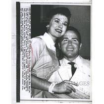 1956 Press Photo Miss America Sharon Kay Ritchie, Don Cherry - RSH47111