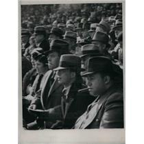1935 Press Photo Cleveland Baseball Crowd