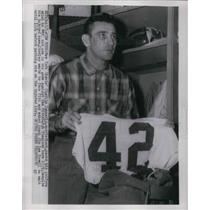 1945 Press Photo Giants Quarterback Charlie Connerly