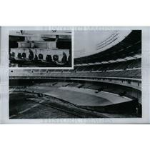 1962 Press Photo Changeable Seating Arrangements at D. C. Stadium
