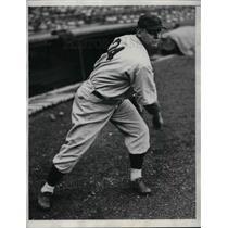 1933 Press Photo Bob Kline, Boston Red Sox Pitcher