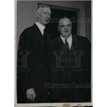 1923 Press Photo PA. Athletic Mgr.Connie Mack and White Sox owner Lou Comiskey,