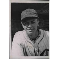 1935 Press Photo Stanley Nack Third Baseman Chicago Cubs Pennant Winners MLB