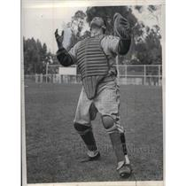 1937 Press Photo James O'Dea, Catcher