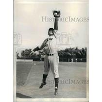 1934 Press Photo New York Giants Baseball Rookie Infielder Alfred Cuccinello