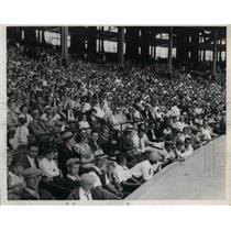 1932 Press Photo Cleveland Amusement Day crowd
