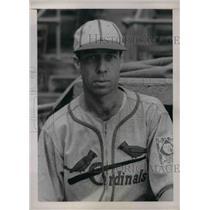 1939 Press Photo St Louis Cardinals shortstop Lynford Lary