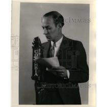 1930 Press Photo Ted Husing, Sportscaster