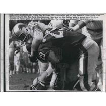 1962 Press Photo Detroit Lions Sam Williams & New York Giants Alex Webster