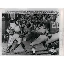 1960 Press Photo Rams' Ollie Matson, Joe Marconi vs Eagles' Tom Catlin, Jim Carr