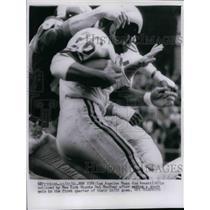 1961 Press Photo Rams Jon Arnett, Giants Del Shofner - nea08559