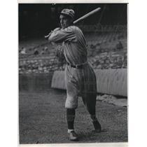 1933 Press Photo Irving J. Burns of St. Louis Browns - nea07775