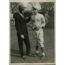1930 Press Photo New York University Baseball Coach Bill McCarthy & Mayell