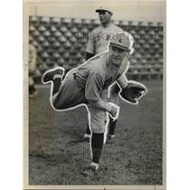 1932 Press Photo Red Sox Training Savannah Georgia Horace Lesenbee Pitcher