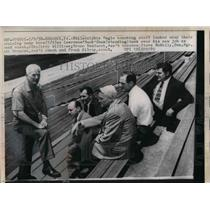 1958 Press Photo Philadelphia Eagles coaching staff Lawrence Buck Shaw Burno B