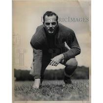 1938 Press Photo Manhattan College football guard, Ed Tellier