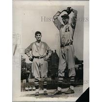1927 Press Photo Frank Bowman Pitcher Hughes High School Baseball Team Player