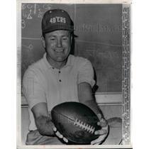 1963 Press Photo Jack Christiansen Coach of San Francisco 49ers