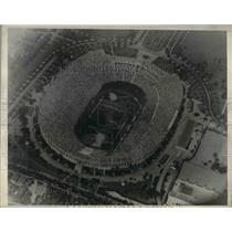 1932 Press Photo aerial of Coliseum Olympic Stadium in LA at Olympic opening