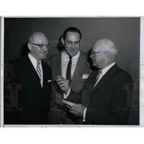1957 Press Photo George Halas, Bears, Ed Krause, Notre Dame, P. Driscoll, Bears