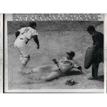 1960 Press Photo Boston Billy Gardner of the Senators Bill Allison Red Sox