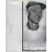 1957 Press Photo Clay Bryant Manager Los Angeles Angels