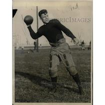 1922 Press Photo W. H. Hamilton, Naval Academy football player