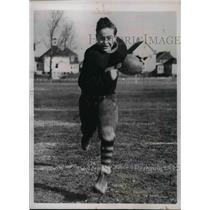 1937 Press Photo Winslow HS, football player Harvard Yale brown
