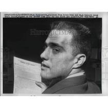 1959 Press Photo Detroit Lions draft Nick Pietrosante, fullback