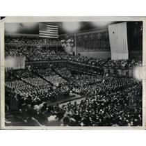 1931 Press Photo View Of Crowd Jammed In City Auditorium In Denver Colorado
