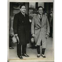 1929 Press Photo Capt. Vasquez & Capt Luizaga from Bolivia for aviation flight
