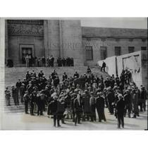 1934 Press Photo Farmers Stage Protest at Nebraska State Capitol - nea31793