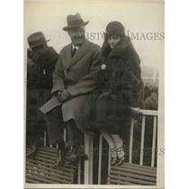 1925 Press Photo Mary Lambert Frank R. Howe Belmont Park Long Island NY