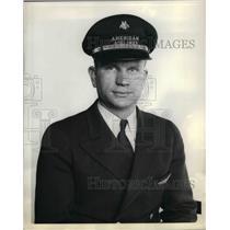 1938 Press Photo United Airlines Second Pilot Joe G Schneider