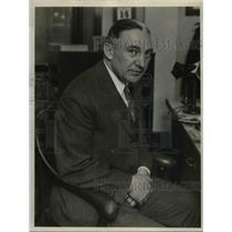 1927 Press Photo Edward Litzinger, Chicago Assessor
