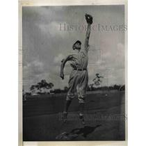 1934 Press Photo Henry R. Winston pitcher Philadelphia Athletics Fort Myers Fla