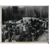1939 Press Photo Crashed Boeing Statoliner in Alder, Wash. - nea35180