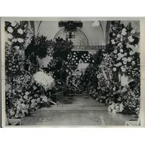 1933 Press Photo Casket of Michael J. Donlin, New York Giants - nea38329