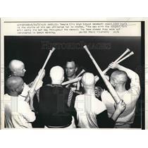1957 Press Photo Temple City High School baseball coach Bill Davis