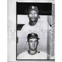 1962 Press Photo Leon Wagner, Billy Moran, Los Angeles Angels - nea39508