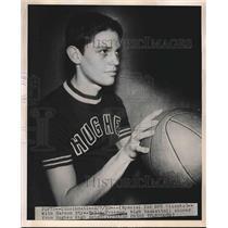 1952 Press Photo Robin Freeman, Hughes High School basketball player - nea41166