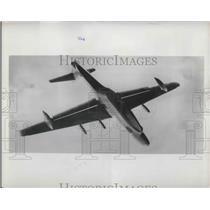 1954 Press Photo Sauders Roe Ltd.British aircraft Rocker-propelled model flying