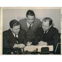 1941 Press Photo Bill Edwards, Western Reserve Univ., Roy Miller, Fred Mandell