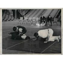 1932 Press Photo Lehigh University Defeats Penn U. In Wrestling Match