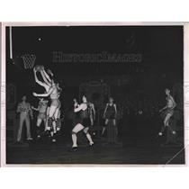 1935 Press Photo Catholic Interscholastic Basketball Tournament at Loyola