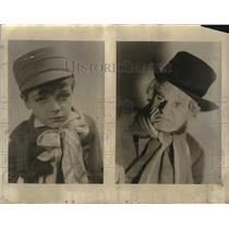 "1930 Press Photo Donald Hughes, Jack Soanes for ""A Christmas Carol"""