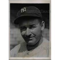 1936 Press Photo Irving Hadley of the New York Yankees - nea44784