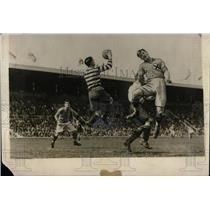 1923 Press Photo England Plays Sweden In Stockholm Football Match