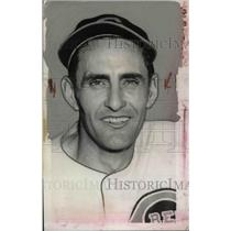 1939 Press Photo John Niggeling, Pitcher For Cincinnati Reds