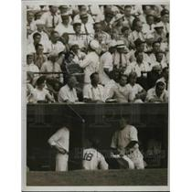1935 Press Photo Johnny Allen #18 New York Yankees